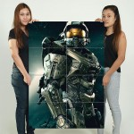 Halo Master Chief Block Giant Wall Art Poster