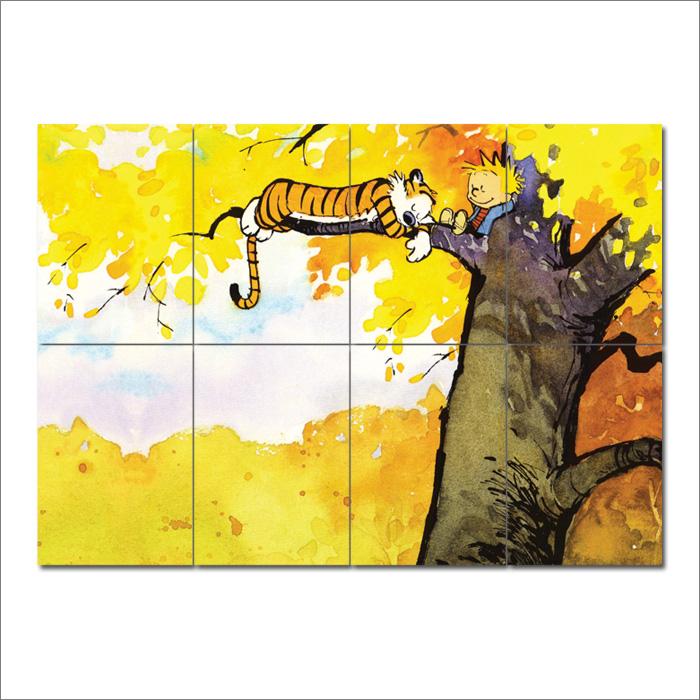 Calvin and Hobbes Block Giant Wall Art Poster