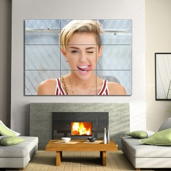 Miley Cyrus Block Giant Wall Art Poster (P-1277)