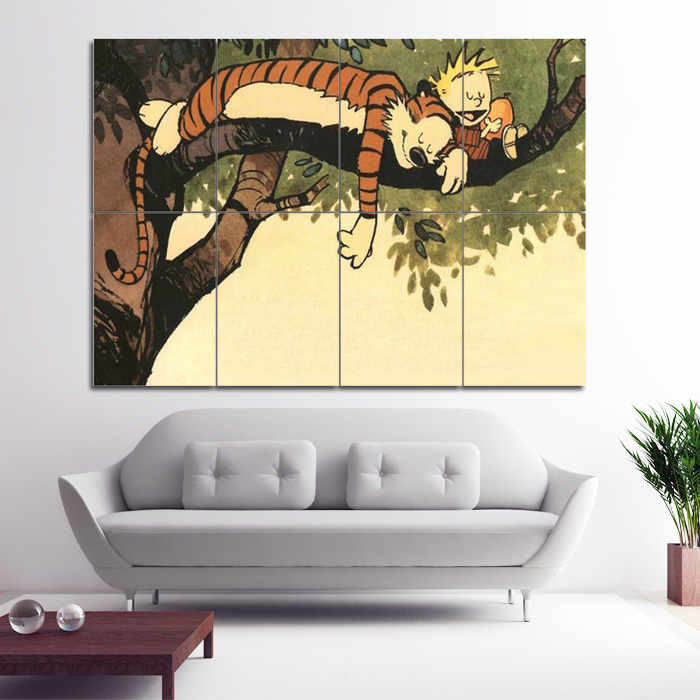 Calvin and hobbes comics block giant wall art poster for Calvin and hobbes nursery mural