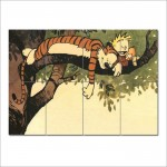 Calvin and Hobbes Comics Block Giant Wall Art Poster