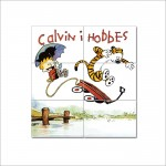 Calvin and Hobbes Jumping Block Giant Wall Art Poster