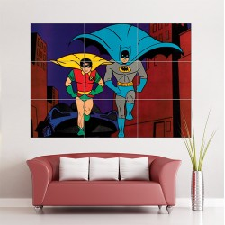 Batman and Robin classic Retro Wand-Kunstdruck Riesenposter (P-1291)