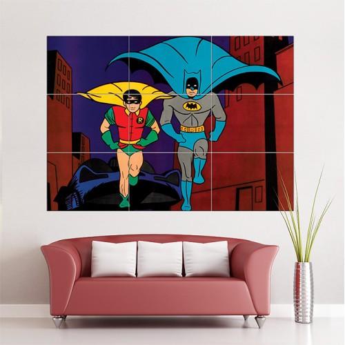 โปสเตอร์ ขนาดใหญ่ Batman and Robin classic Retro