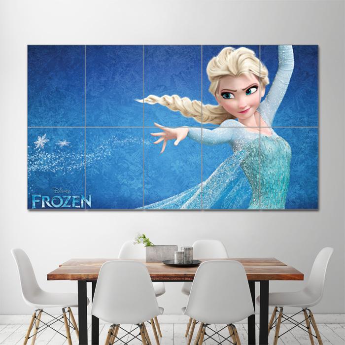 frozen elsa block giant wall art poster
