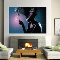 โปสเตอร์ ขนาดใหญ่ Girl smoking (P-1295)