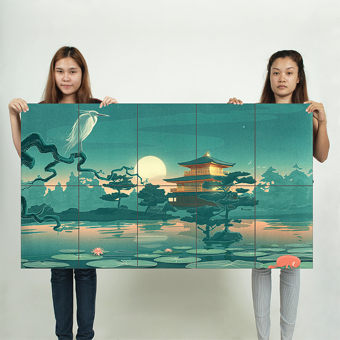 Japanische kunst wand kunstdruck riesenposter - Japanische wand ...