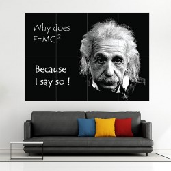 Einstein funny Block Giant Wall Art Poster (P-1305)