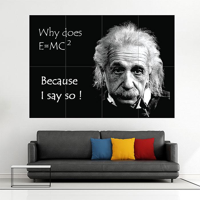 Einstein funny Block Giant Wall Art Poster
