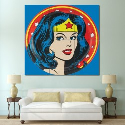 Wonder Woman Wall Art superman wonder woman moon kiss block giant poster
