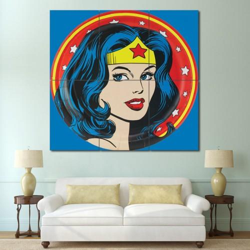 โปสเตอร์ ขนาดใหญ่ การ์ตูน Wonder woman วันเดอร์วูแมน
