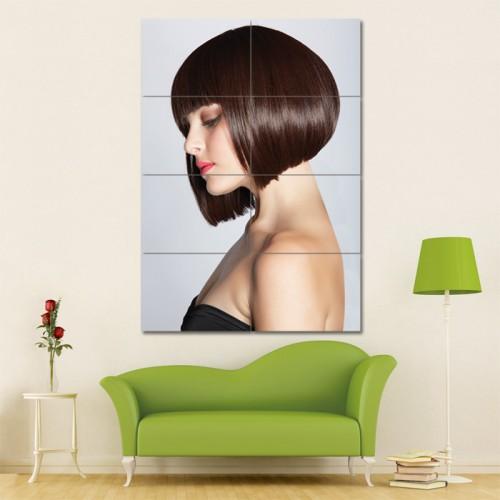 โปสเตอร์ ขนาดใหญ่ ภาพทรงผมผู้หญิง ทรงผมบ๊อบสั้น