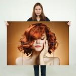 โปสเตอร์ ขนาดใหญ่ ภาพทรงผมผู้หญิง ทรงผมสั้นบ๊อบ