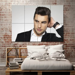Pompadour Hairstyles Barber Haircuts Block Giant Wall Art Poster (P-1321)