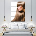 brown long hair- women hair Barber Haircuts Wall Art Poster