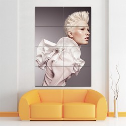 Short Blonde Hairstyles Barber Haircuts Block Giant Wall Art Poster (P-1327)