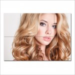 Long Wavy Hairstyle Barber Haircuts Block Giant Poster