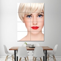 Short Straight Hairstyles Barber Haircuts Block Giant Wall Art Poster (P-1334)