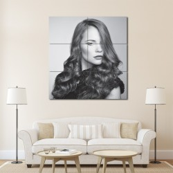 Long Wavy And Curly Hairstyles Barber Haircuts Block Giant Wall Art Poster (P-1335)