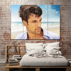 Short Wavy Hair Men Barber Haircuts Block Giant Wall Art Poster (P-1337)