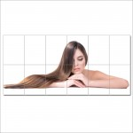 Long Straight Brown Hairstyles Barber Haircuts Giant Poster