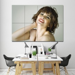 โปสเตอร์ ขนาดใหญ่ ภาพทรงผมผู้หญิง ทรงผมหยิกซอยสั้นประบ่า (P-1340)