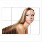 Long Smooth Blonde Hairstyle   Barber Haircuts Giant Poster