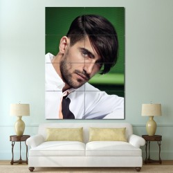 Men Medium Length hairstyles  Barber Haircuts Block Giant Wall Art Poster (P-1342)