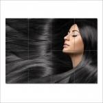 Long Straight Black Hairstyle  Barber Haircuts Giant Poster