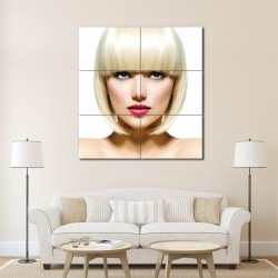 Bob Hairstyles with Bangs Barber Haircuts Block Giant Wall Art Poster (P-1349)