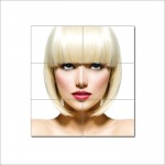 Bob Hairstyles with Bangs Barber Haircuts Block Giant Poster