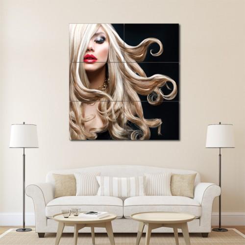 โปสเตอร์ ขนาดใหญ่ ภาพทรงผมผู้หญิง ทรงผมยาว ดัดลอนปลาย