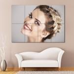 โปสเตอร์ ขนาดใหญ่ ภาพทรงผมผู้หญิง เกล้าผมถักเปียด้านหน้า