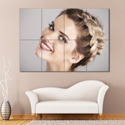 The Heidi Braid Barber Haircuts Block Giant Wall Art Poster (P-1355)