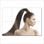 High Pony Tail Hair Style Barber Haircuts Block Giant Poster
