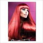 โปสเตอร์ ขนาดใหญ่ ภาพทรงผมผู้หญิง ผมสีแดงยาวตรงหน้าม้า