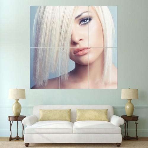โปสเตอร์ ขนาดใหญ่ ภาพทรงผมผู้หญิง บ๊อบปัดข้าง