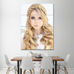 Braided headband Barber Haircuts Block Giant Wall Art Poster (P-1363)