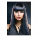 Long Black Straight Hair With Bangs Barber Haircuts Poster