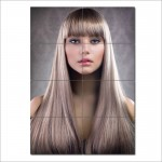 Sleek Straight hair with front bangs Barber Haircuts Poster