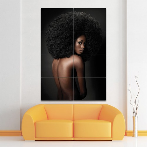 Black Afro Hairstyles Barber Haircuts Giant Wall Art Poster