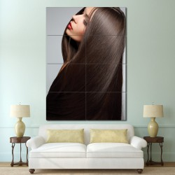 Sleek Straight hair Barber Haircuts Block Giant Wall Art Poster (P-1367)