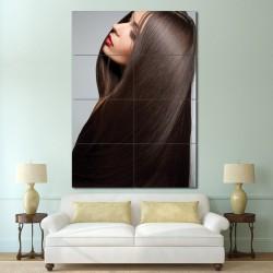 โปสเตอร์ ขนาดใหญ่  ภาพทรงผมผู้หญิง  ผมยาวตรง (P-1367)