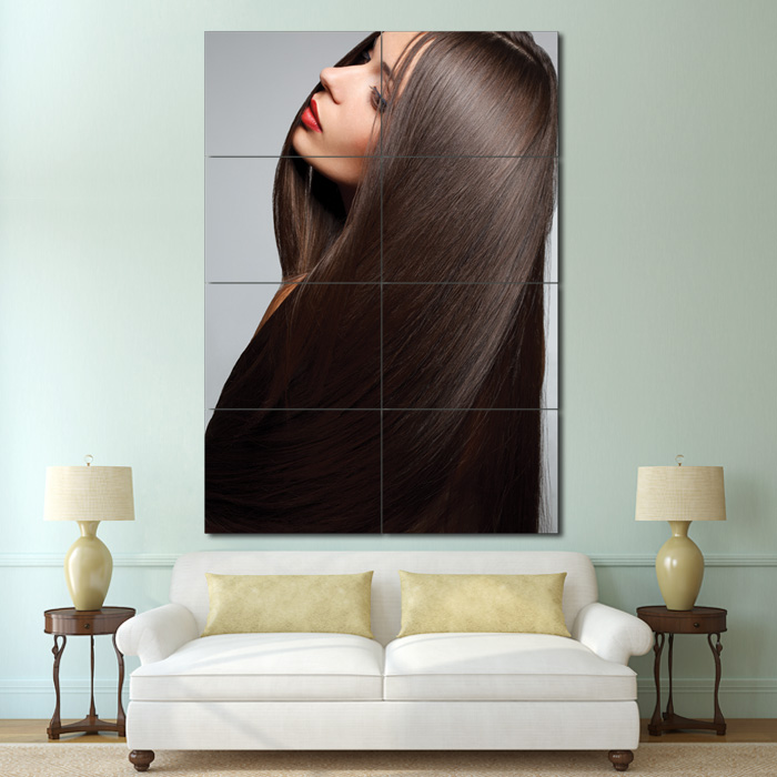 Damen Lange Haare Schnitte Friseursalon Riesenposter