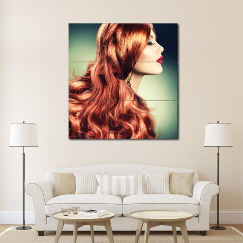 Classic Waves Barber Haircuts Block Giant Wall Art Poster