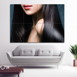 women hair Barber Haircuts Block Giant Wall Art Poster (P-1370)