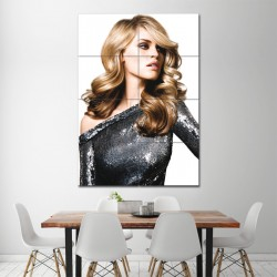 Blond Long Wavy Hairstyle Barber Haircuts Block Giant Wall Art Poster (P-1371)
