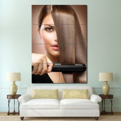 Hair treatment Barber Haircuts Block Giant Wall Art Poster (P-1372)