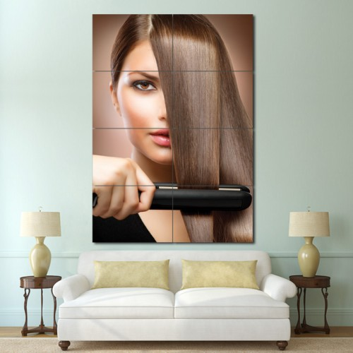 Hair treatment Barber Haircuts Block Giant Wall Art Poster