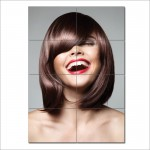 Sleek Bob Pony Hairstyle Barber Haircuts Giant Wall Art Poster